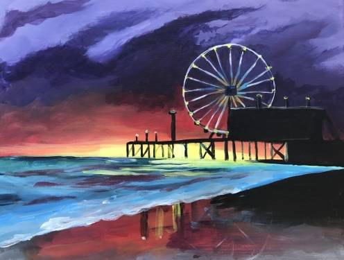 A Sunset Carnival III paint nite project by Yaymaker