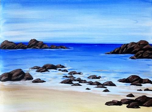 A Rocky Shoreline paint nite project by Yaymaker
