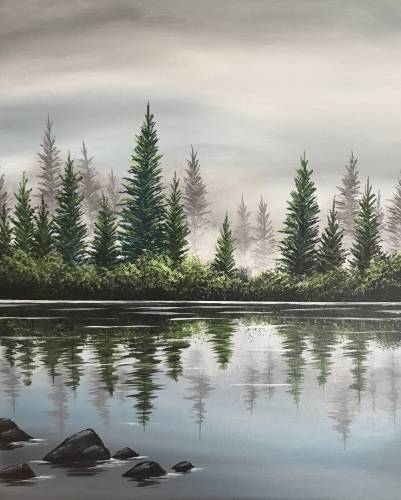 A Still Waters Edge paint nite project by Yaymaker