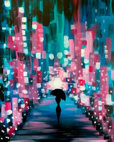 A Fluorescent Walk in the City paint nite project by Yaymaker