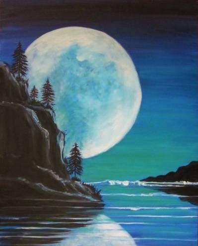 A Blue Moon Rising paint nite project by Yaymaker