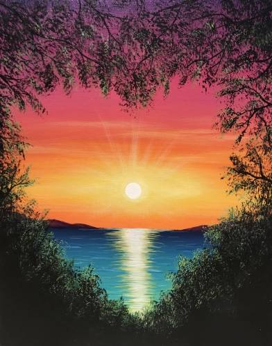 A Ocean Love paint nite project by Yaymaker