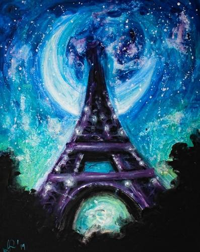 A Watercolor Paris paint nite project by Yaymaker