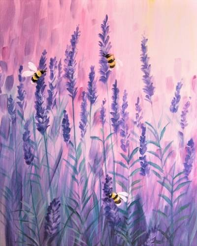 A Lavender Buzz paint nite project by Yaymaker