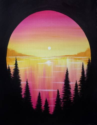 A Summer On The Lake paint nite project by Yaymaker