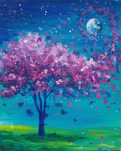 A Blossoming Breeze paint nite project by Yaymaker