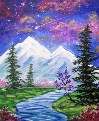 A Midnight Wishes paint nite project by Yaymaker
