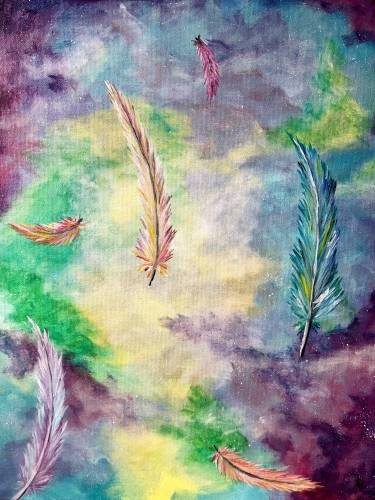 A Feathers of Hope paint nite project by Yaymaker