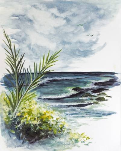 A Lush Beach Daydream paint nite project by Yaymaker