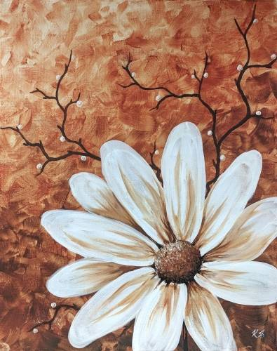 A Vintage Bloom II paint nite project by Yaymaker
