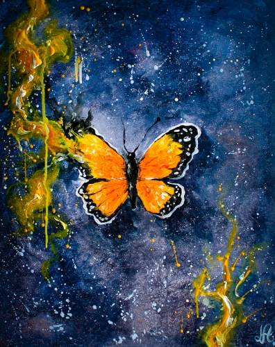 A Butterfly Beauty II paint nite project by Yaymaker