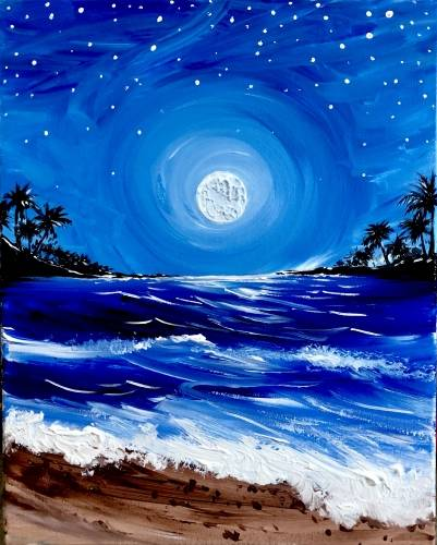 A Moonglow Beach paint nite project by Yaymaker
