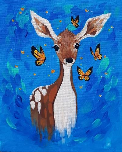 A Oh Deer Its Summer paint nite project by Yaymaker