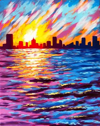 A City On The Water paint nite project by Yaymaker