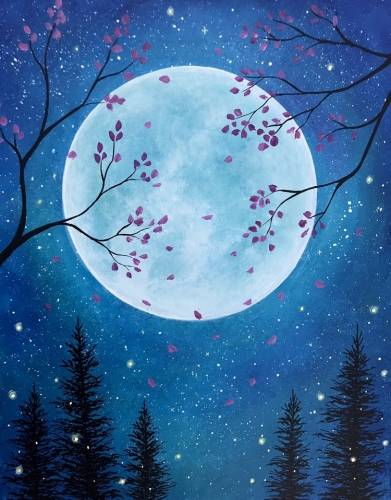 A Mystic Moon Magic paint nite project by Yaymaker