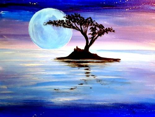 A Moonlight Moon Set paint nite project by Yaymaker