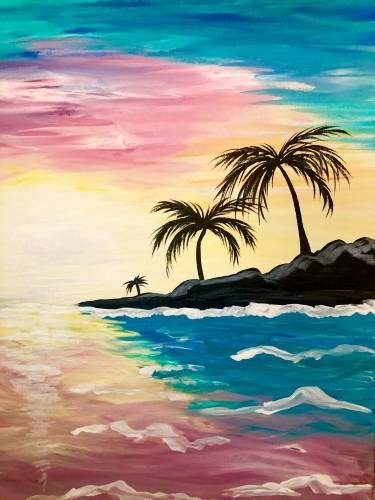 A Palm Tree Island II paint nite project by Yaymaker
