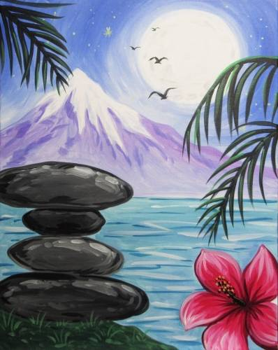 A Zen Paradise paint nite project by Yaymaker