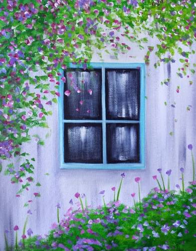 A Window Blooms paint nite project by Yaymaker