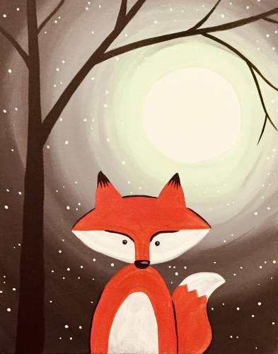 A Foxy Moon paint nite project by Yaymaker