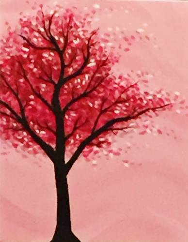 A Leaves on a Tree paint nite project by Yaymaker