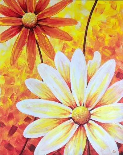 A Autumn Blooms paint nite project by Yaymaker