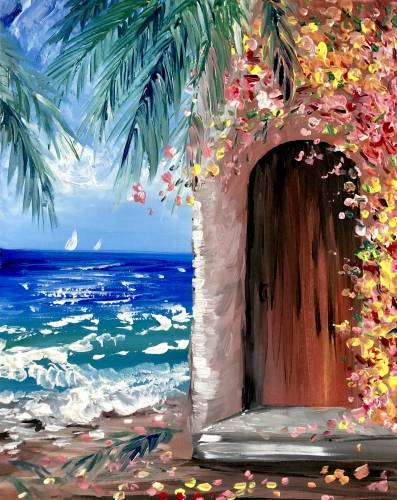 A Tropical Ocean Villa paint nite project by Yaymaker