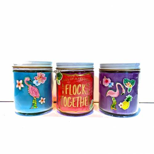 A Flamingo Candle Trio candle maker project by Yaymaker