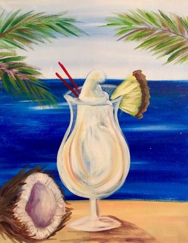 A If You Like Pina Coladas paint nite project by Yaymaker