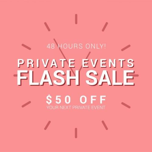 A Private Event Flash Sale 2019 private event holding bin project by Yaymaker
