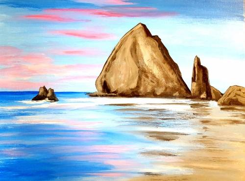 A Take me to the Beach II paint nite project by Yaymaker