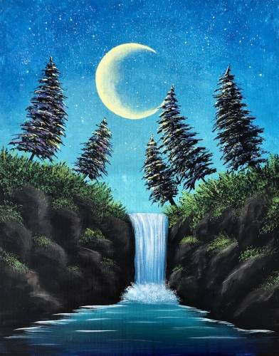 A Twilight Falls paint nite project by Yaymaker