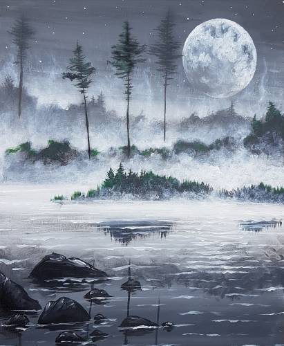 A Tranquil Lake paint nite project by Yaymaker