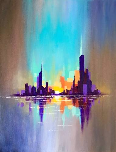 A City Reflections paint nite project by Yaymaker