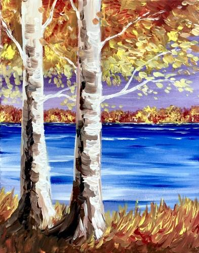 A The Gold of Fall paint nite project by Yaymaker