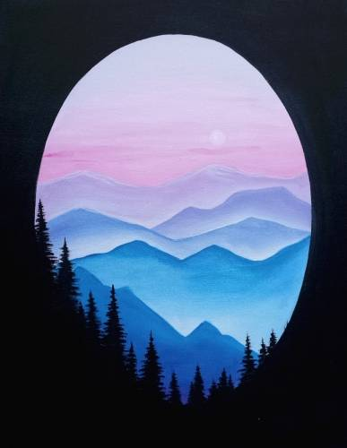 A Mountain Hues paint nite project by Yaymaker