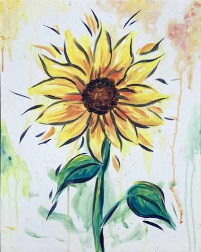 A Sunflower Splat paint nite project by Yaymaker
