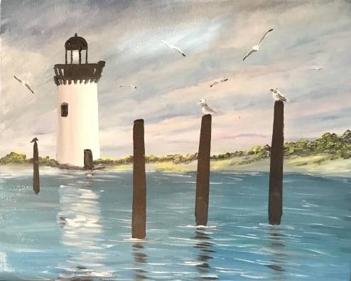 A Little Light House paint nite project by Yaymaker