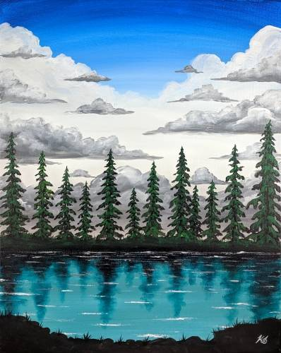 A Glacier Lake paint nite project by Yaymaker