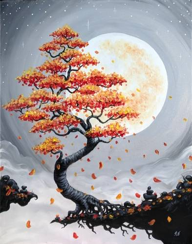 A Harvest Moon Bonsai paint nite project by Yaymaker