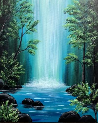 A Lagoon Falls paint nite project by Yaymaker