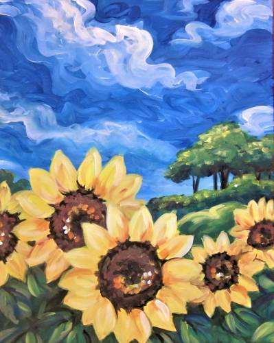 A Sunflower Suite paint nite project by Yaymaker