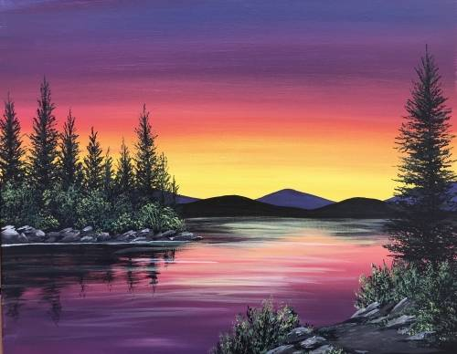 A Lake Of The Woods paint nite project by Yaymaker