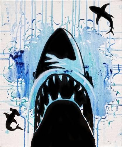 A Shark Splash II paint nite project by Yaymaker