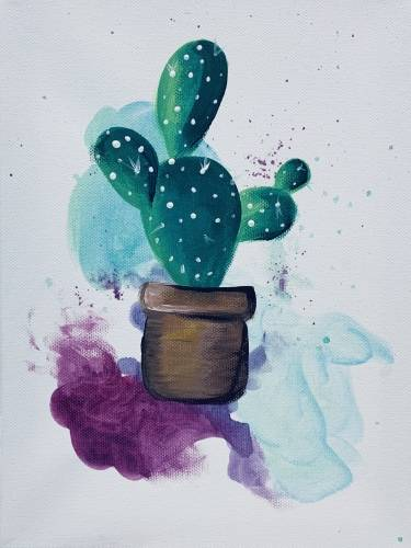 A Simple Cactus II paint nite project by Yaymaker