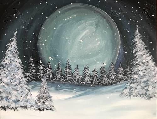 A Snowy Moon paint nite project by Yaymaker