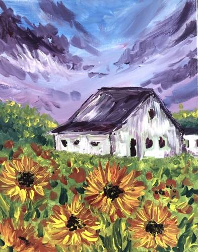 A Sunflower Farm II paint nite project by Yaymaker