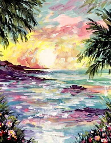 A On Island Time paint nite project by Yaymaker
