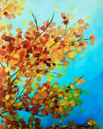 A Fall Leaves III paint nite project by Yaymaker