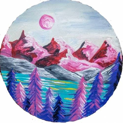 A Magenta Mountains paint nite project by Yaymaker